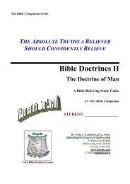 THE DOCTRINE OF SALVATION - Student pdf - Bible Baptist