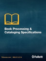 Book Processing & cataloging Specifications Form - Follett Library ...