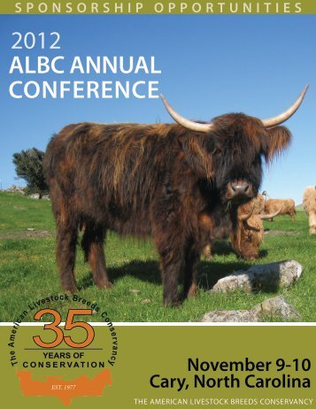 DOWNLOAD the Sponsorship Packet (PDF) - American Livestock ...
