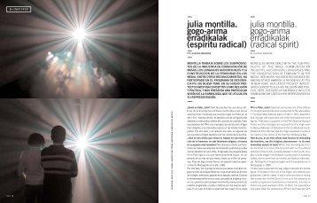 Julia Montilla. Gogo-Arima Erradikalak (Radical Spirit)