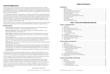 to download Table of Contents - Active Parenting Publishers