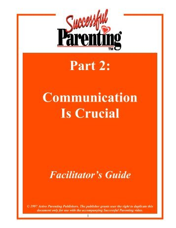 Facilitator's Guide - Active Parenting Publishers