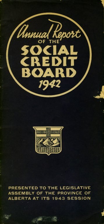 1942 Social Credit Annual Report - pdf - The World Of William ...