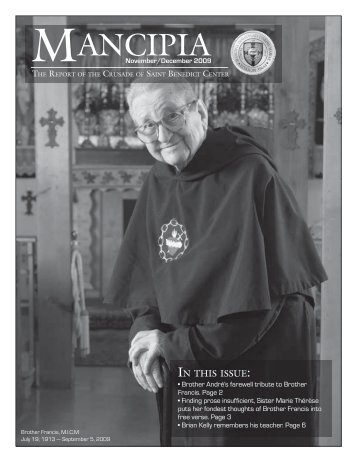 November/December Newsletter - Catholicism.org