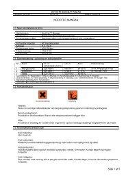 SIKKERHEDSDATABLAD NOROTEC MANGAN Side 1 af 5
