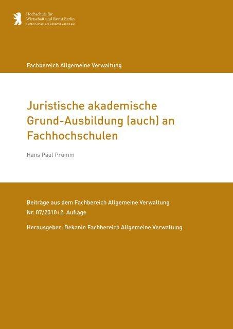 Juristische Akademische Grund-Ausbildung - HWR Berlin
