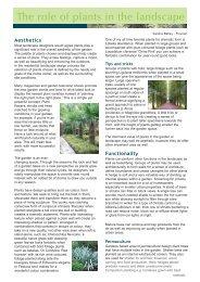 The role of plants in the landscape - Flourish Garden Concepts Ltd