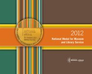 2012 National Medal for Museum and Library Service - Institute of ...