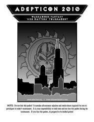 2010 Warhammer Fantasy 'Size Matters' Tournament