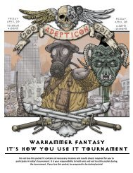 WARHAMMER FANTASY IT's HOW YOU USE IT TOURNAMENT