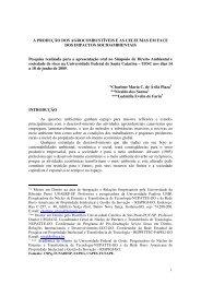 produção dos agrocombustíveis e as celeumas - Ucg