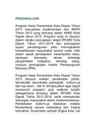 PENDAHULUAN Program Kerja Pemerintah Kota ... - Bappeda Depok