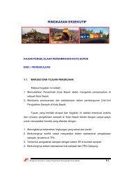 RINGKASAN EKSEKUTIF - Bappeda Depok - Pemerintah Kota Depok