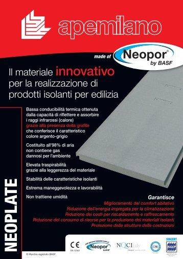 NEOPLATE Scheda tecnica - Portale Design - edilportale.com