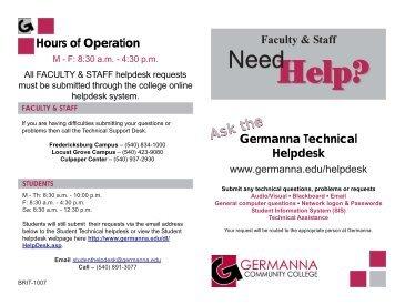 Help? Help? - Germanna Community College