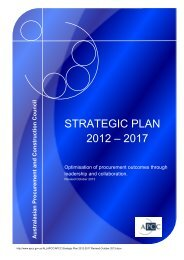 STRATEGIC PLAN 2012 – 2017 - Australian Procurement and ...