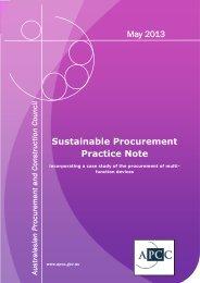 Sustainable Procurement Practice Note May 2013 - Australian ...