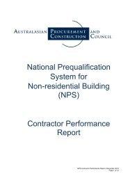 NPS Contractor Performance Report - Australian Procurement and ...