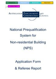 NPS Application Form and Referee Report - Australian Procurement ...