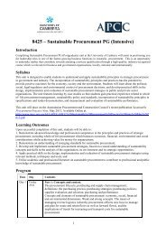 8425 – Sustainable Procurement PG (Intensive) - Australian ...