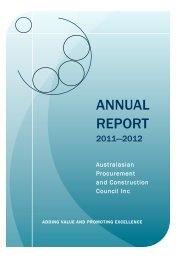 2011-2012 Annual Report Final - Australian Procurement and ...