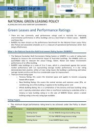 Green Leases and Performance Ratings - Australian Procurement ...