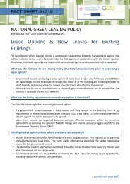 FACT SHEET 8 Lease Options and New Leases