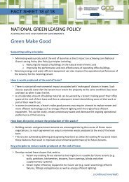 FACT SHEET 18 Green Make Good