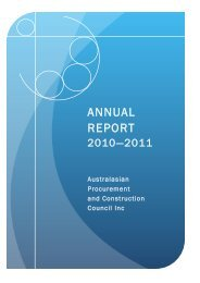 ANNUAL REPORT - Australian Procurement and Construction Council