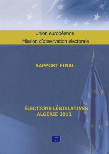 Algérie 2012: Rapport final de la Mission d - Missions
