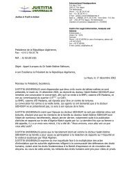 Lettre au Président Bouteflika à propos de M. Sidhoum - Algeria-Watch