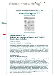 FAZ-Artikel: Investitionsgrab IT - Fuchs Consulting