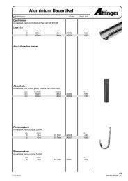 Aluminium PREFA Color Bauartikel - Attinger Handelsges. mbH