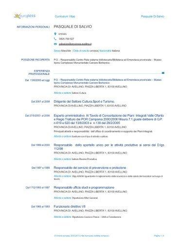 europass cv - italiano  pdf
