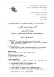 regulamin konkursu - Szkoła Podstawowa nr 51 - Lublin