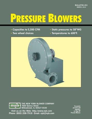 Pressure Blowers (451) - New York Blower