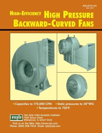 nyb High Pressure Backward-Curved Fans - New York Blower