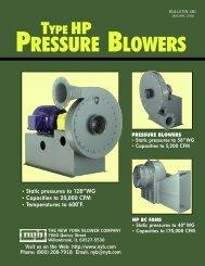 Type HP Pressure Blowers - New York Blower