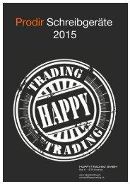 HappyTrading - Prodir Schreibgeräte 2015