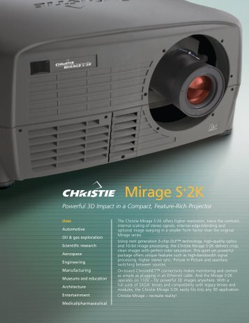 CHRI2165 MirageS+2K DS.qxd - Christie Digital Systems
