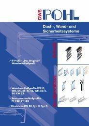 An-/Abschlüsse ff-Profil ngstexte Dach-, Wand- und - Pohl
