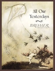 All Our Yesterdays - Bromer Booksellers