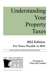 Understanding Your Property Taxes - Minnesota Center for Fiscal ...