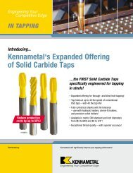Kennametal's Expanded Offering of Solid Carbide Taps - Jan Havelka