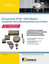 Kennametals KYON® 4300 Whisker- ver stärkter ...