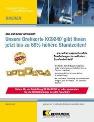 Unsere Drehsorte KC9240TM gibt Ihnen jetzt bis zu ... - Jan Havelka