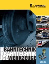 Bahntechnik Katalog 7090 — DE - Kennametal