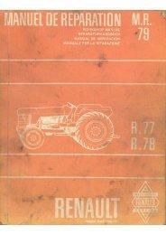 Manuel de réparation R77 - R78 - Amicale des vieilles soupapes