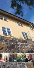 Micasa Fastigheter i Stockholm AB