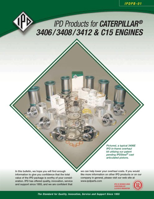 IPD Products for CATERPILLAR® 3406 / 3408 / 3412     - from IPD